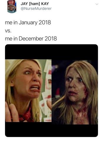 me in Jan 2018 vs me in Dec 2018